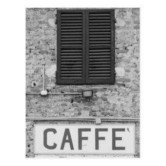 Italian Caffè Postcard