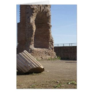 Italian cards, Domitianic Baths Rome Card