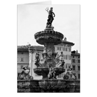 Italian cards, Fountain of Neptune & Torre Trento Card