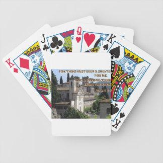 Italian Castle in Mandela, Italy Poker Deck