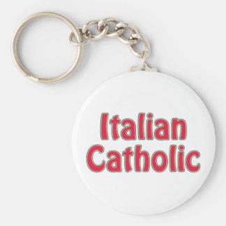 Italian Catholic Basic Round Button Key Ring