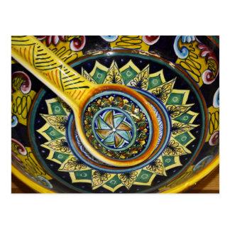 Italian Ceramic Bowl Postcard