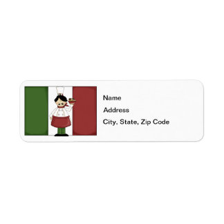 Italian Chef #3 Return Address Label
