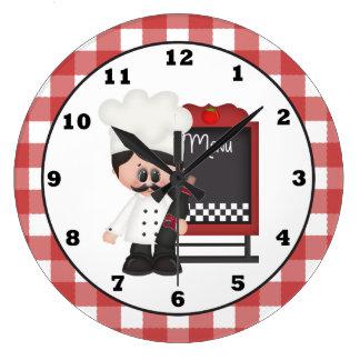 Italian Chef Fun wall clock