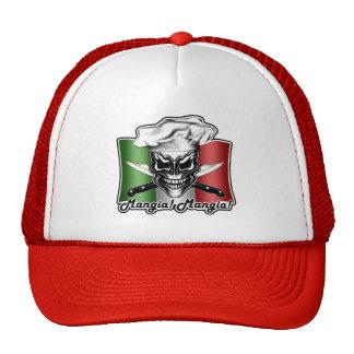 Italian Chef Skull Hat: Mangia! Mangia! Cap