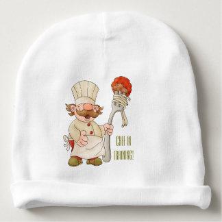 Italian Chef Spaghetti & Meatballs Personalized Baby Beanie