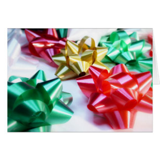 Italian Christmas bows Greeting Card