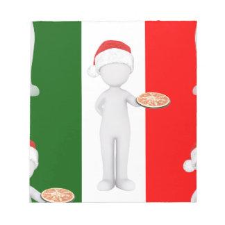 italian christmas notepad