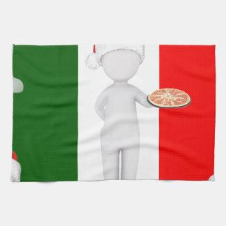 italian christmas tea towel