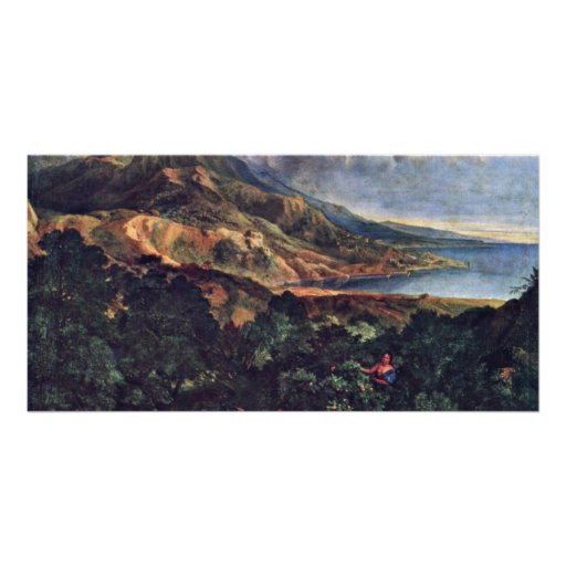 Italian Coastal Scenery By Millet  (Best Quality) Photo Card Template