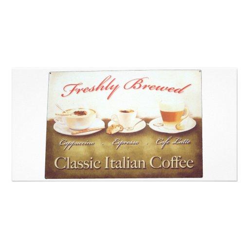 Italian coffee photo card