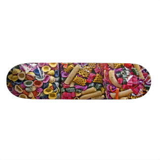 Italian Coloured Pasta Shapes (4) Skateboard Deck