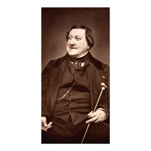 Italian Composer Gioachino Antonio Rossini Customized Photo Card