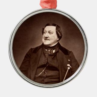 Italian Composer Gioachino Antonio Rossini Silver-Colored Round Decoration