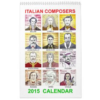 Italian Composers 2015 Calendar