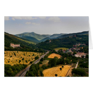 Italian Countryside  - Spoleto Italy Card