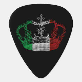 Italian Crown Flag Personalized Guitar Pick