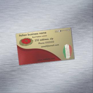 Italian cuisine Magnetic business card