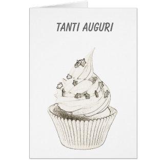 Italian Cupcake Birthday / Tanti Auguri Greeting Card