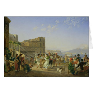 Italian Dancing, Naples, 1836 Card
