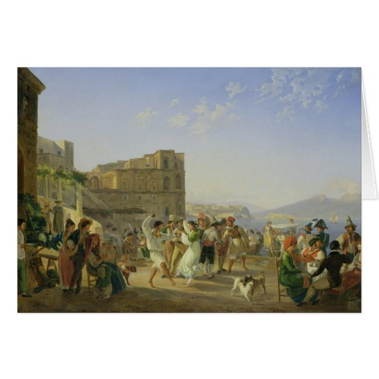 Italian Dancing, Naples, 1836 Card