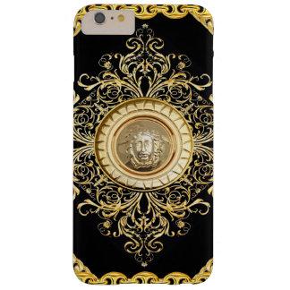 Italian design Medusa, roccoco baroque, black gold Barely There iPhone 6 Plus Case