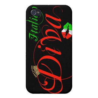 Italian Diva Black Background iPhone 4/4S Case