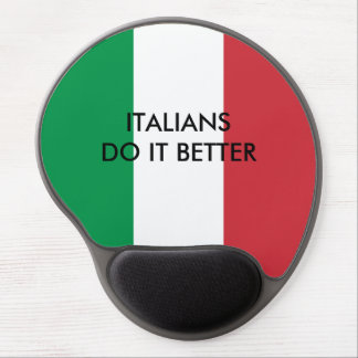 Italian do it better funny quote Italy flag custom Gel Mouse Pad