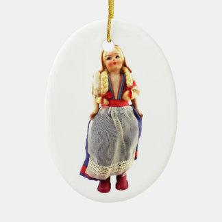 Italian Doll Ceramic Ornament