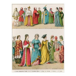 Italian Dress Postcard