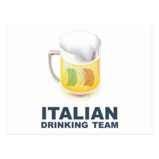 Italian Drinking Team Postcard