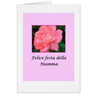 Italian Felice festa della Mamm Mothers's Day Card