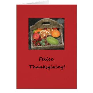 italian felice thanksgiving autumn fruits card