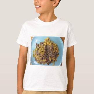 Italian fettuccine pasta with porcini mushrooms T-Shirt