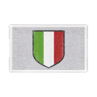 Italian Flag Acrylic Food Tray