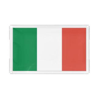 italian flag acrylic tray