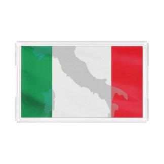 italian flag and Italy Acrylic Tray