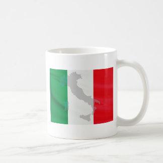 italian flag and Italy Coffee Mug