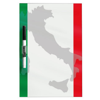 italian flag and Italy Dry Erase Board