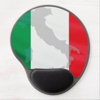 italian flag and Italy Gel Mouse Pad