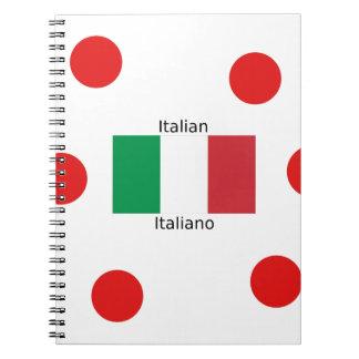 Italian Flag And Italy Language Design Notebook