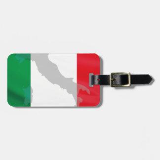italian flag and Italy Luggage Tag