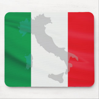 italian flag and Italy Mouse Pad