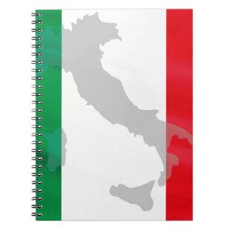 italian flag and Italy Notebooks