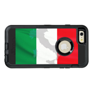 italian flag and Italy OtterBox Defender iPhone Case