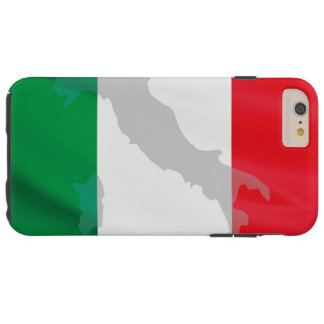 italian flag and Italy Tough iPhone 6 Plus Case