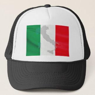 italian flag and Italy Trucker Hat