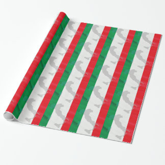 italian flag and Italy Wrapping Paper