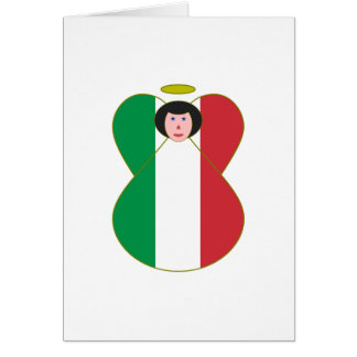 Italian Flag Angel Card