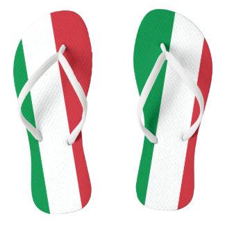 Italian flag beach flip flops for men and women